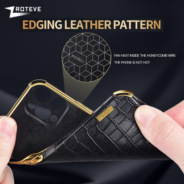 Zroteve For iPhone 12 11 Pro Max Mini Cover Crocodile Pattern Coque For Apple iPhone X S XR XS Max 8 7 6 S 6S Plus SE 2020 Cases 4