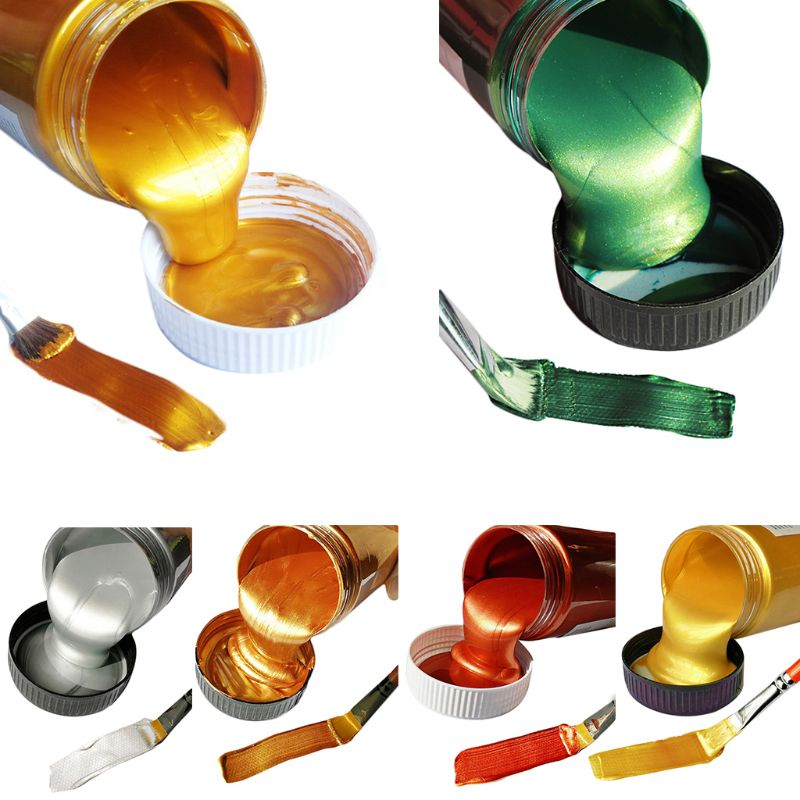 100ml Acrylic Pigment Metallic Paint Drawing Art DIY Handmade Painting Tool School Supplies