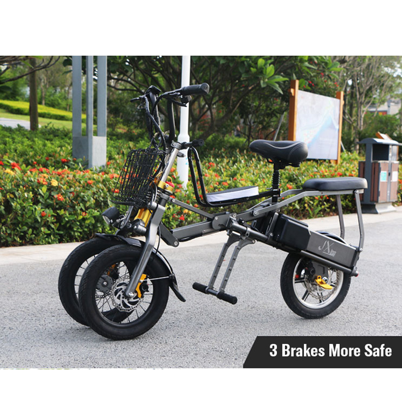 JX003 High speed electric bike 350w 48V 3 wheel foldable electric bicycle e scooter 5