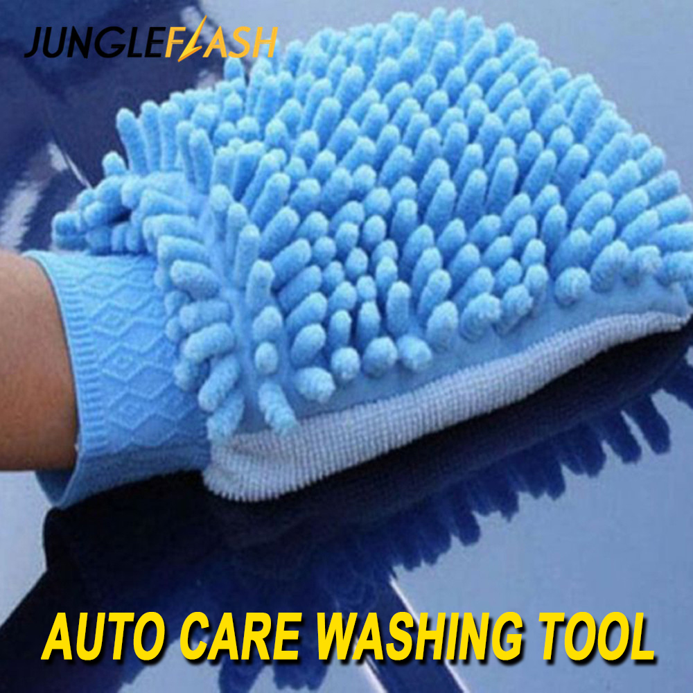 JUNGLEFLASH Car Wash Glove Ultrafine Fiber Chenille Microfiber Home Cleaning Window Washing Duster Towel Auto Care Washing Cloth
