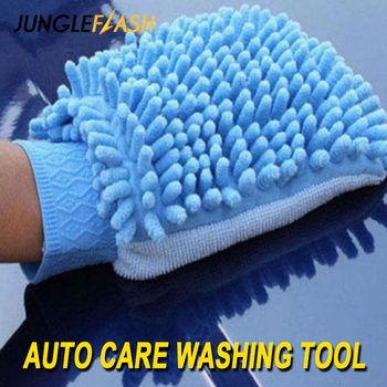 JUNGLEFLASH Car Wash Glove Ultrafine Fiber Chenille Microfiber Home Cleaning Window Washing Duster Towel Auto Care Cloth
