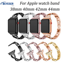 Stainless steel pulseira for Apple watch band 38 40 44 42mm for Watch band bracelet watchband cinturino for Apple watch 5 4 3 2 marc saltzman apple watch for dummies