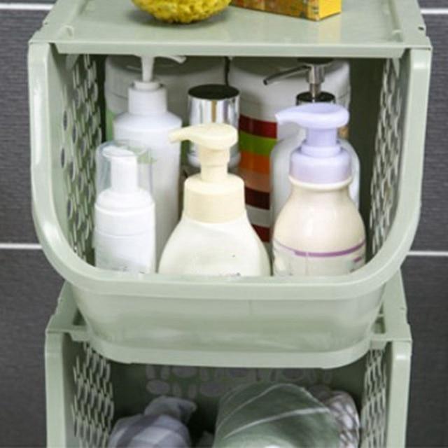 Contenitori E Complementi Per Cucina Cestino di Plastica Multi-funzionale Hollow Verdure Frutta Rastrelliere Con Coperchio Cestino di Immagazzinaggio Per Organizzatori (Beige)
