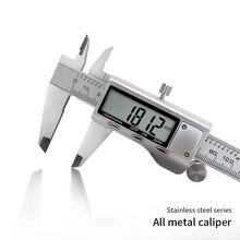 Цифровой штангенциркуль из нержавеющей стали, Новое поступление, 150 мм, 6 дюймов, ЖК цифровой Электронный штангенциркуль, измерительный инструмент