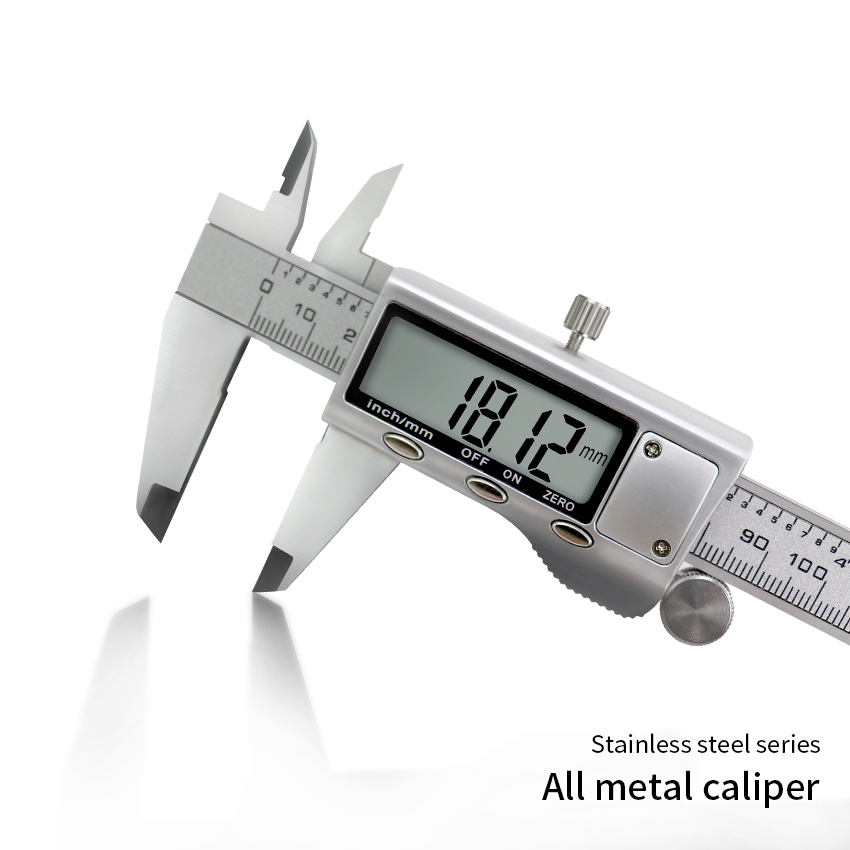 Stainless 150mm 6 inch LCD Electronic Digital Gauge Vernier Caliper Micrometer
