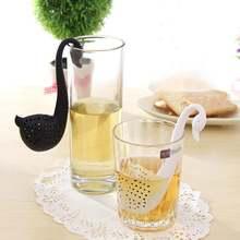 Креативный силиконовый ситечко для заварки чая с лебедем фильтр