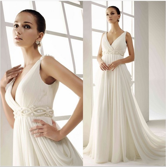 Free Shipping 2014 New Fashion Floor Length Bride Dress Casamento Vestido De Noiva Formal White Long Bridal Gown Wedding Dresses