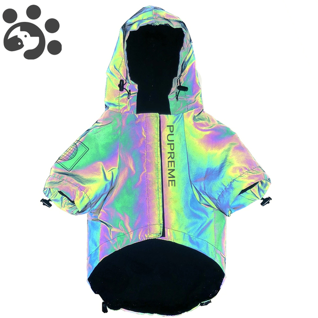 Fashion Dog Clothes Flashing Pet Dogs Hoodie for Dog Coat Windbreaker Reflective Clothing for Large Small Dogs Puppy Jacket Pug