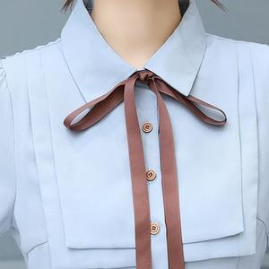 Image 5 - 2020 Autumn Winter Vintage Chiffon Casual Midi Dress Bodycon Korean Office Shirt Dresses Elegant Women Party Long Sleeve Vestido