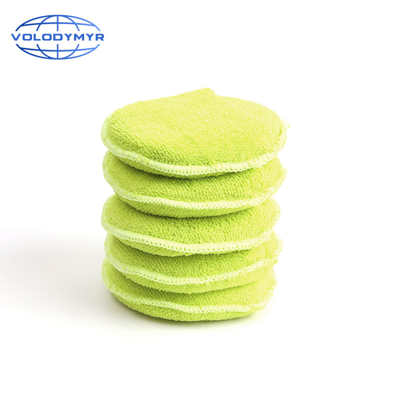 Car Foam Sponge Wax Applicator Pads With Pocket 5pcs Detailing Cleaning Pad Polish Detail Waxing Home Car Auto Care 5inch