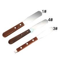 Alginate de mélange de plâtre dentaire, spatule de plâtre, couteau de laboratoire dentaire en métal, spatule de gypse, matériel d'impression, outils de dentiste