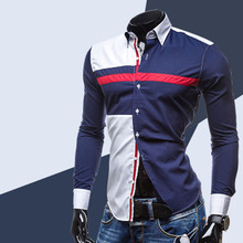 Wholesale Spring summer three color stitching leisure men's