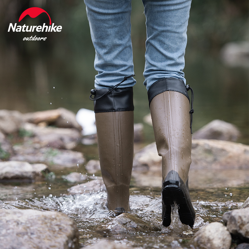 Naturehike Rainboots Breathable High Tube for outdoor Sneaker Fishing Wading Shoes Knee-high Water Boots Rubber Anti-slip Boots