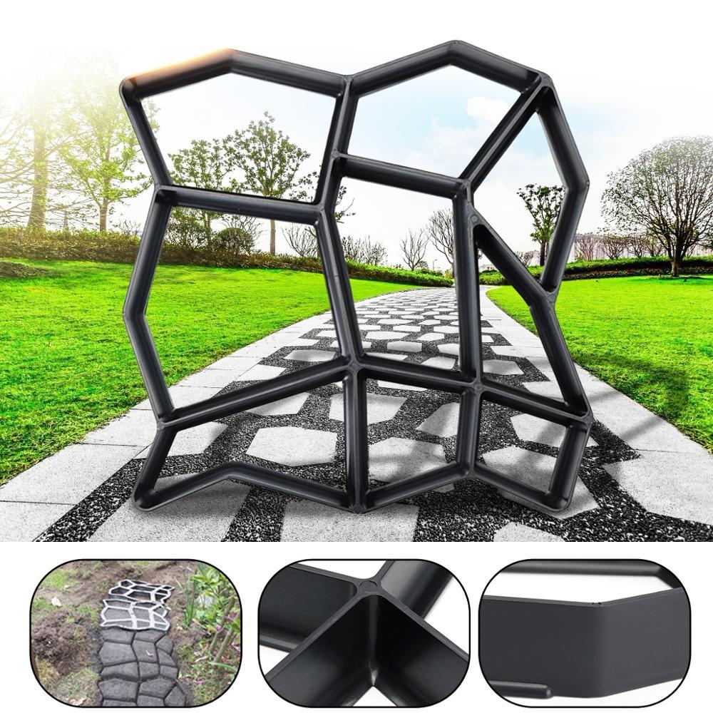 36X36cm שחור פלסטיק ייצור Diy מדרכה עובש משפחה לבני ריצוף רצפת גן כביש רצפת אריחי ריצוף מלט נתיב עובש