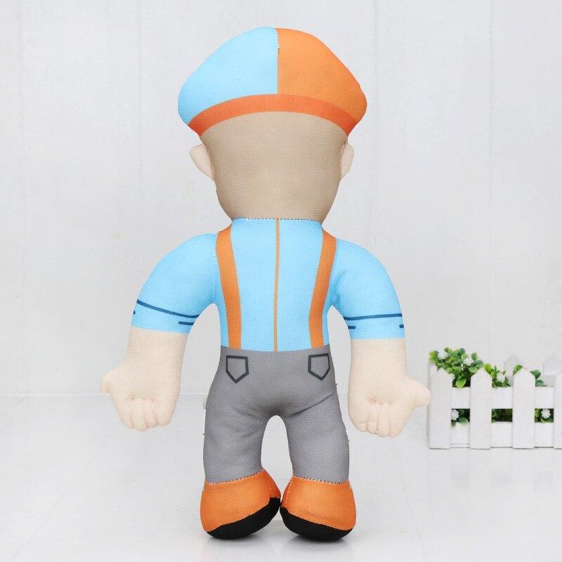 Cute 13 inch Blippi Plush Figure Toy Soft Stuffed Doll for Kids Gift Present