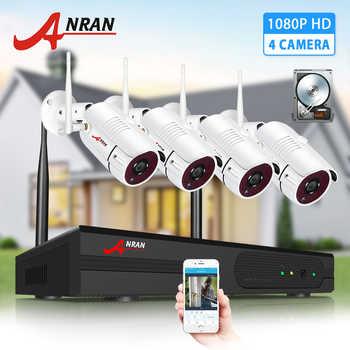 Système de vidéosurveillance sans fil ANRAN 1080P 2MP Kit de Surveillance vidéo caméra de sécurité extérieure étanche NVR Kits Vision nocturne IR Cut HD