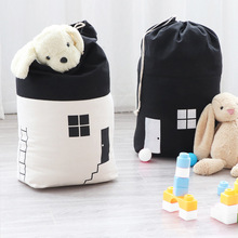 Small House Storage Bags Kids Toy Bag Drawstring Organizer Baby Toys Collection Children Room Organizers Pouch