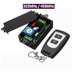 Image 1 - Беспроводной переключатель дистанционного управления AC220V, 1 канал, 10 А, 315 МГц, 433 МГц, выход, радиоприемник, модуль с водонепроницаемым передатчиком