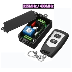 Image 1 - AC220V 1channel 10A Wireless Remote Control Switch Relay 315MHz 433MHz Output Radio Receiver Module With Waterproof Transmitter