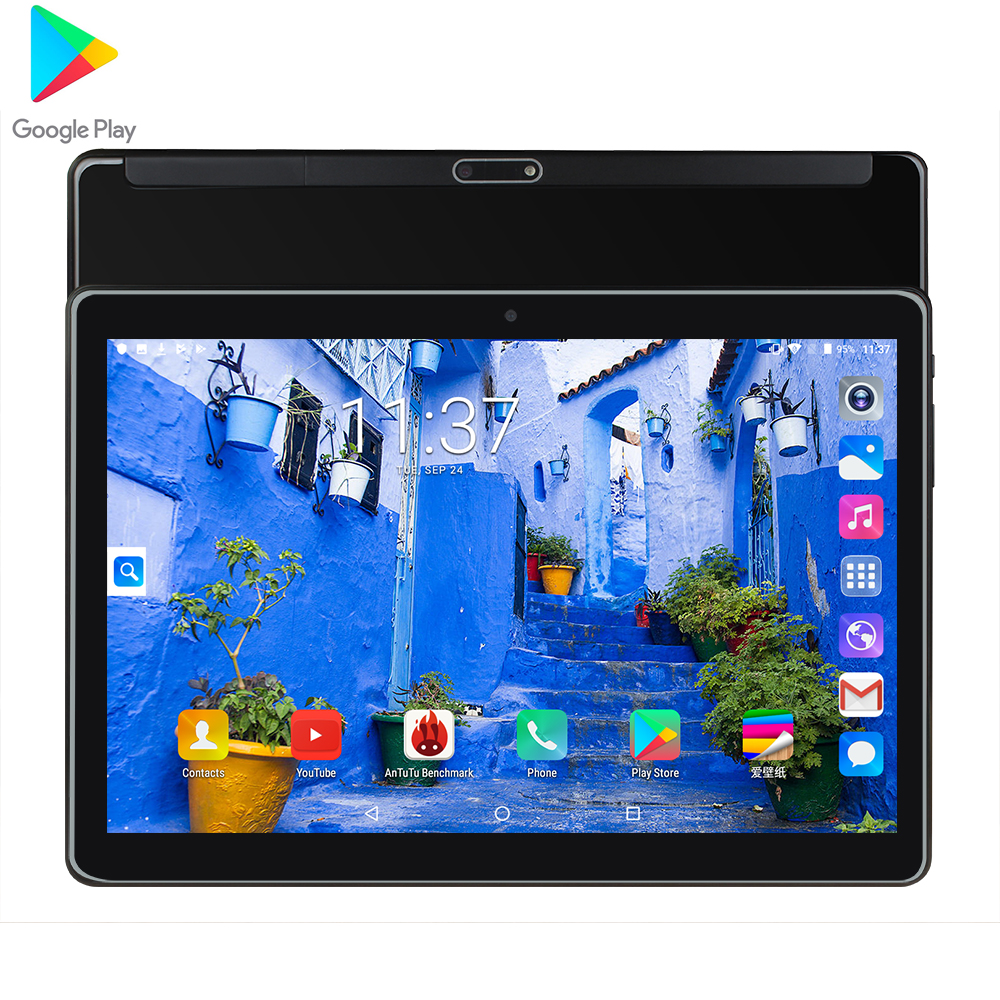 2020 Newest 10 Inch Tablet Android 7.0 Quad Core 1.5GB RAM 32GB ROM Wifi GPS Phone Call Glass Screen Tablet Pc