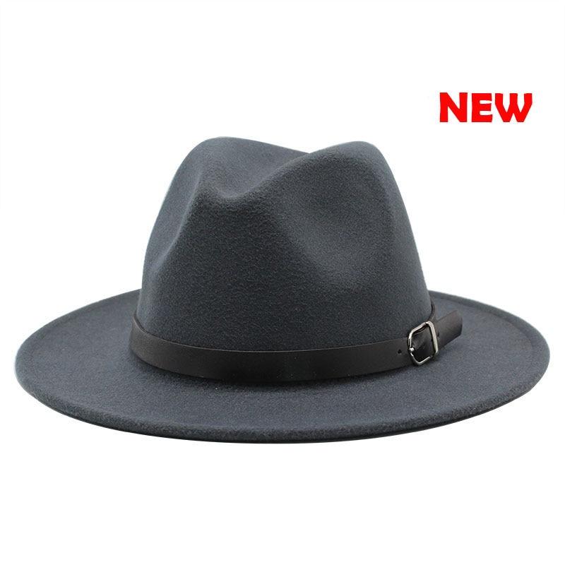 Classic British Fedora Hat Men Women Imitation Woolen Winter Felt Hats Fashion Jazz Hat Chapeau Wholesale 14