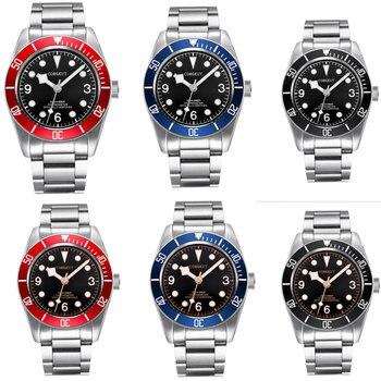 6 моделей Роскошные 41 мм автоматические мужские часы с сапфировым стеклом белые/Золотые метки вращающийся ободок умственный ремень ST Move Муж...