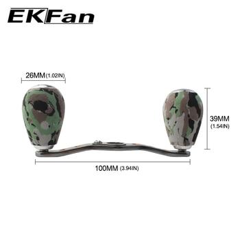 EKFan, profesional, Ligero, portátil, herramientas de aparejos de pesca, aleación de aluminio, mango de carrete de pesca, carrete de pesca Baitcasting, balancín