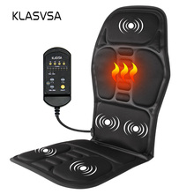 KLASVSA Electric Back Massager Chair Cushion Vibrator Portable Home Car Office Neck Lumbar Waist Pain Relief Seat Pad Relax Mat