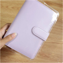 A5/A6 Clear PVC Cover for Macaron Book Jacket Leather Cover Notebook Protective Case Film