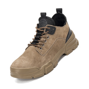 Image 3 - 36~48 Work Shoes Genuine leather Steel toe Wilderness Survival Anti smashing Men Work Boots #YD806