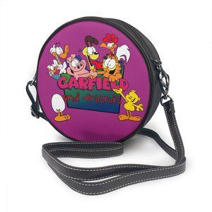 Image 5 - Garfield torba na ramię GARFIELD 4 skórzana torba Mini drukuj kobiety torby uniwersalny Teenage Crossbody Woman Trending Round torebka