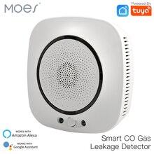 WiFi Smart CO Gas Sensor Carbon Monoxide Leakage Fire Security Detector Smart Life Tuya App Control Home Security System