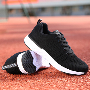 Image 4 - Fashion Tennis Shoes Woman Breathable Mesh Black Zapatos Mujer Comfort Lace up Soft Female Outdoor Light Gym Sport Sneaker Flats