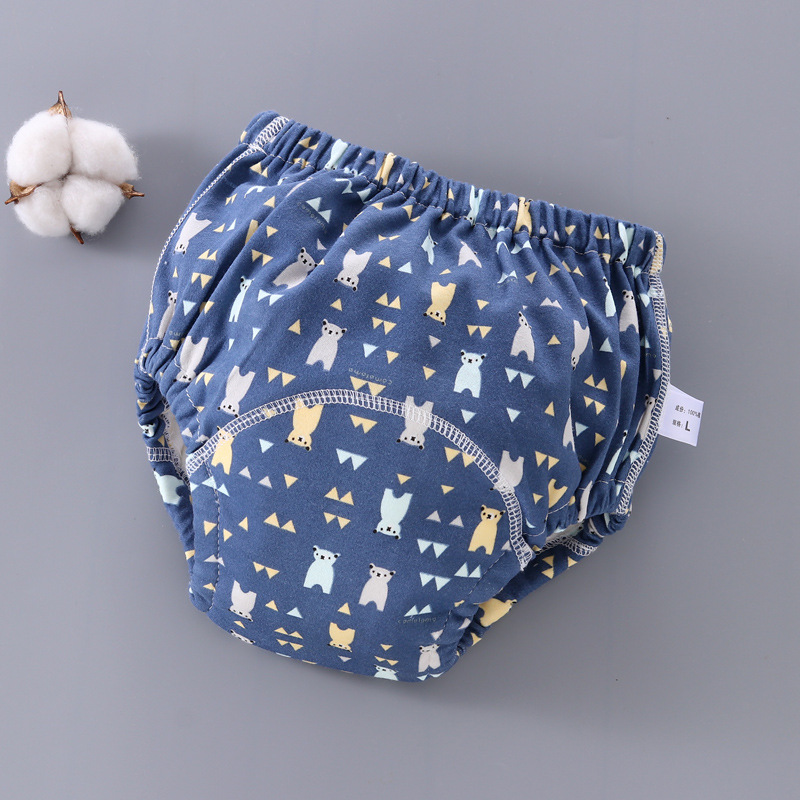 6 Layer Waterproof Reusable Cotton Baby Training Pants Infant Shorts Underwear Cloth Baby Diaper Nappies Panties Nappy Changing 3