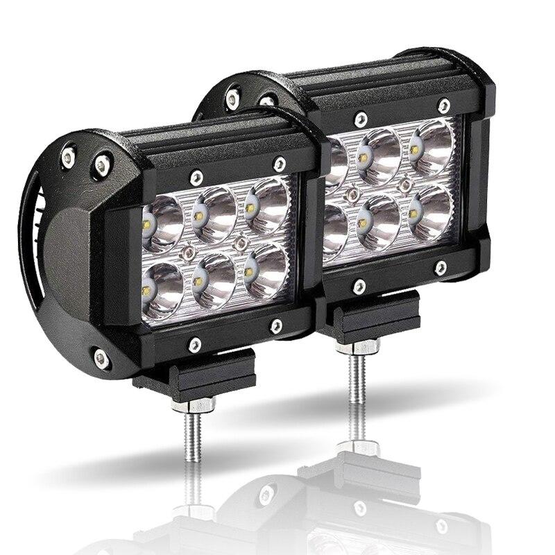 LED Work Light 18W LED Bar Light For Motorcycle Tractor Boat Off Road 4x4 Truck SUV ATV Fog Lamp 4inch 12 Volt Led Spotlight
