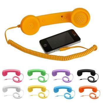 Universal Retro Radiation-proof Telephone Handset Headphones for Phone Calls