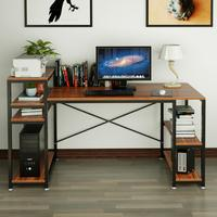 59 Inch Computer Desk with Storage Shelf Writing Desk Printer Stand Work Station PC Laptop Gaming Table for Home , Office