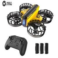HS450 Mini RC Drohne Headless Drones Quadrocopter Drone Ein Schlüssel Land Auto Schwebt 3 Batterien Hubschrauber