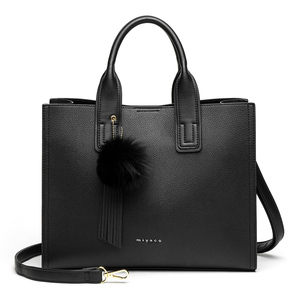 Image 4 - MIYACO Women Bag Leather Handbag Designer Tote Bags Female Elegant Crossbody Bags Ladies Hand Bags with Tassel&Furry ball