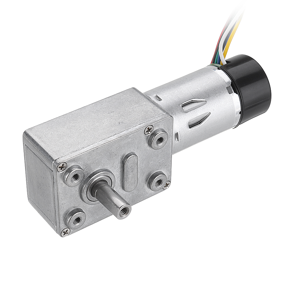JGY-370 DC <font><b>12V</b></font> 10/30/90/150RPM <font><b>Motor</b></font> Reduction <font><b>Gear</b></font> Worm Self-locking <font><b>Encoder</b></font> Signal Feedback <font><b>Motor</b></font> Internal Gearbox image
