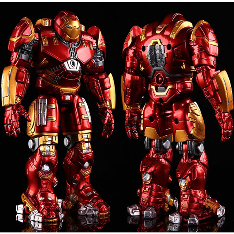 18cm Avengers 2 Iron Man Armor Joints Movable Action Figure Iron Man Hulk Buster Figures Mark With LED Light Toys Model For Kids