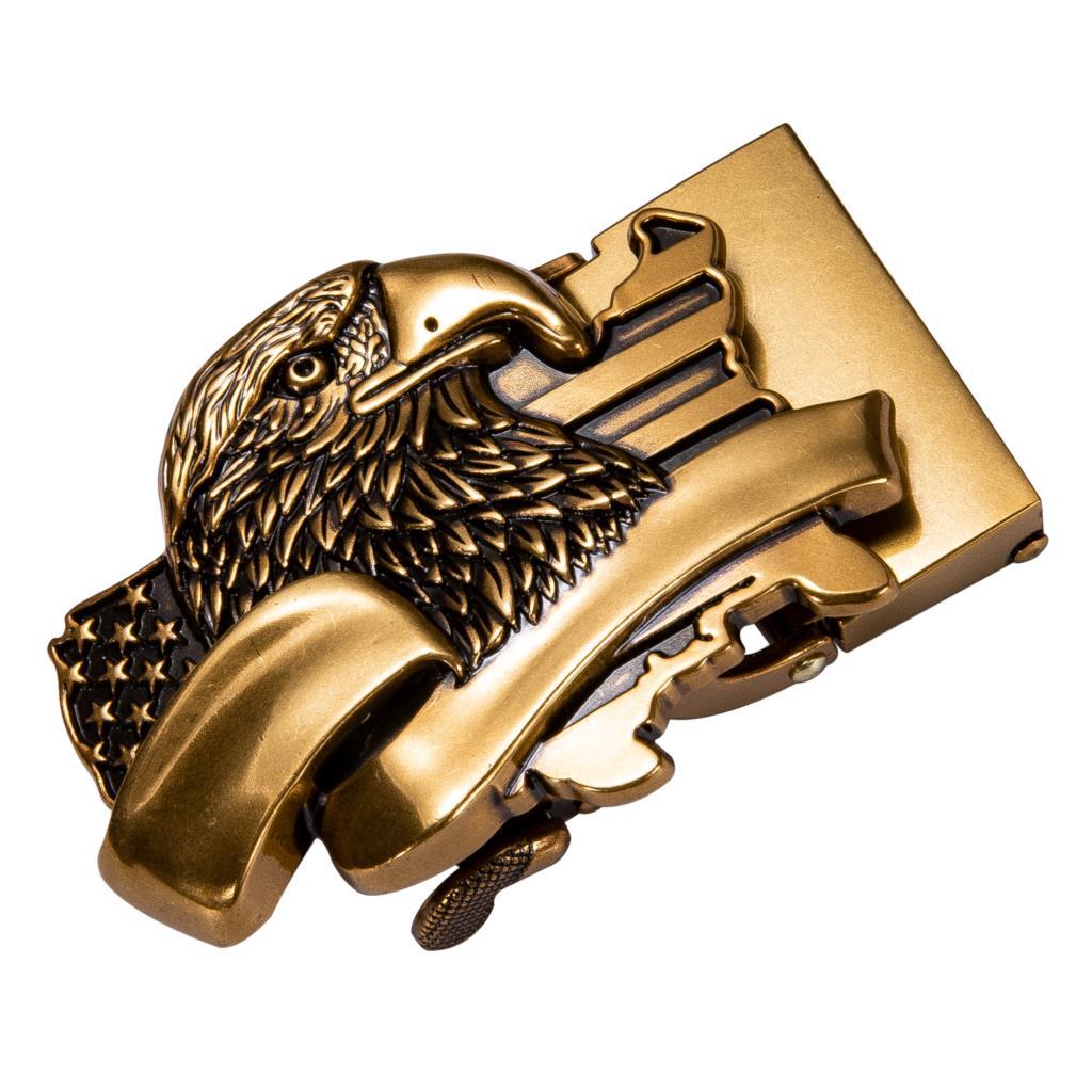 Fashion Men's Belt Head Belt Buckle Business Alloy Automatic Belt Buckle For Width 3.5CM Men Belt Only Ratchet Buckle DiBanGu