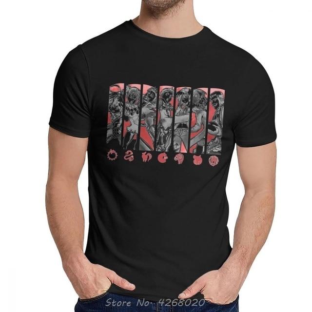 Great Seven Deadly Sins Meliodas Ban Escanor Diane Lion Dragon Fox T-Shirt Men Classic O-Neck Cotton T Shirt Cool Tshirt Tees