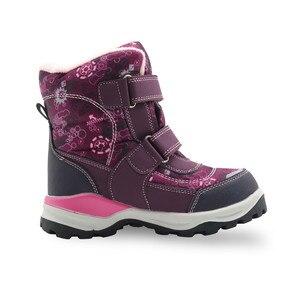 Image 3 - Зимние ботинки для девочек; Детские водонепроницаемые теплые шерстяные ботильоны; Зимние ботинки для снежной погоды, пешего туризма, альпинизма; Уличная спортивная обувь