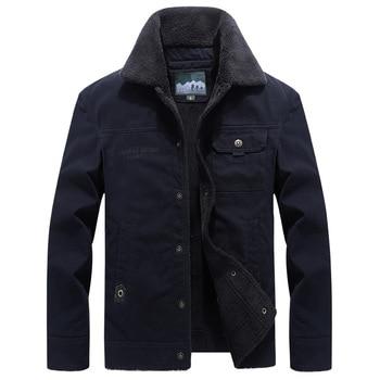 Plus Size Winter Jacket Men Outwear Thick Wool Liner Warm Coats Male Windbreaker Military Mens Jackets chaqueta hombre