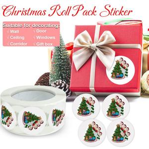 Paper Label Stickers Fashioon Sticker Scrapbooking 500pcs/roll For Wedding Gift Christmas Decoration Card Business Packing