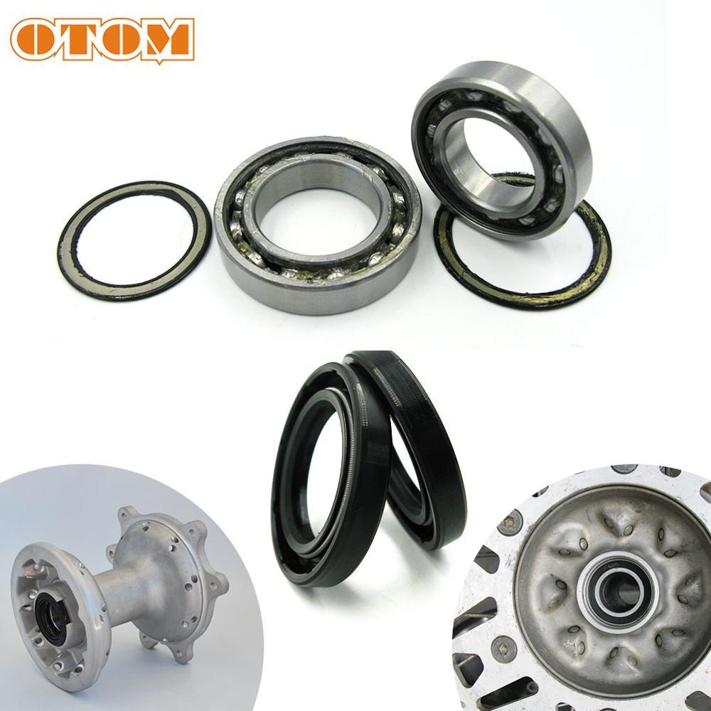 OTOM For HONDA CRF250R CRF450R CRF250X CRF450RX Motorcycle Front Rear Wheel Hub Oil Seal Bearing Set
