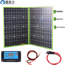 100w 20v foldable solar panel flexible home kit portable charger system 5v usb for 12v RV car battery camping hiking outdoor