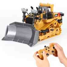 1:24 9CH Multifunctional RC Bulldozer Crawler Type Alloy/Plastic Shovel Engineering Forklift Heavy Excavator toy gifts for kids