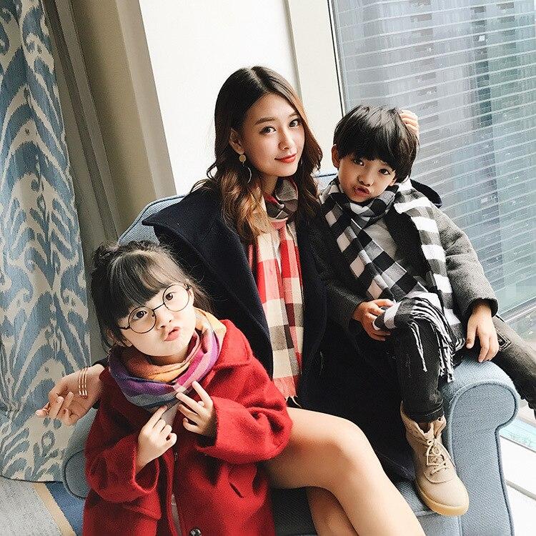 2019 Autumn And Winter Unisex Medium-length Scarf CHILDREN'S Scarf Faux Cashmere Medium-length Warm CHILDREN'S Scarf